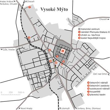 Via Ironia - Mapa Vysokého Mýta