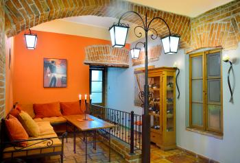 Interiér restaurace VIA IRONIA Vysoké Mýto 8